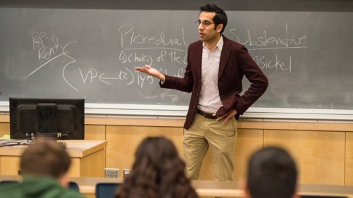 """Associate Professor of Government Sonu Bedi's recent book is """"Beyond Race, Sex, and Sexual Orientation: Legal Equality without Identity."""" (Photo by Eli Burakian '00)"""