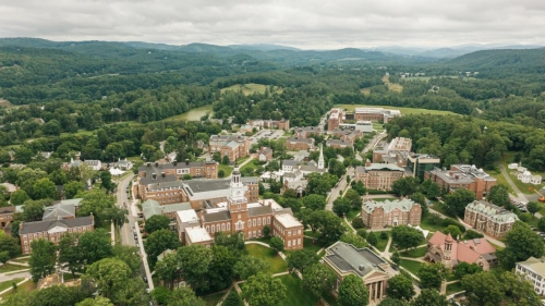 Dartmouth Campus aerial view