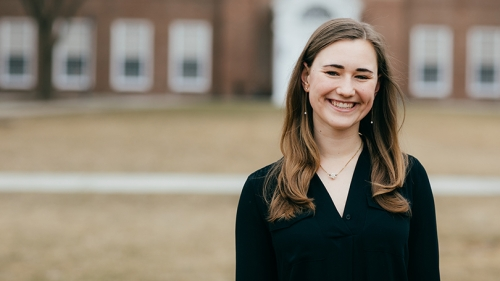 "Grace Anderson '20 says she has always loved research. ""It's like a puzzle, where you have to pull lots of different strands of information together."""