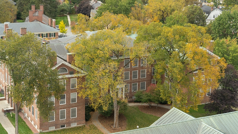 Silsby Hall from above